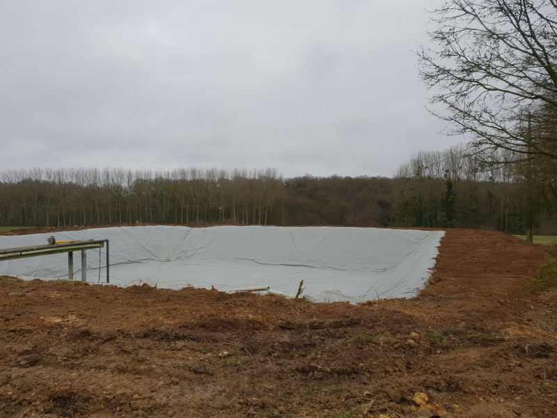 Bassin de rétention pour effluents
