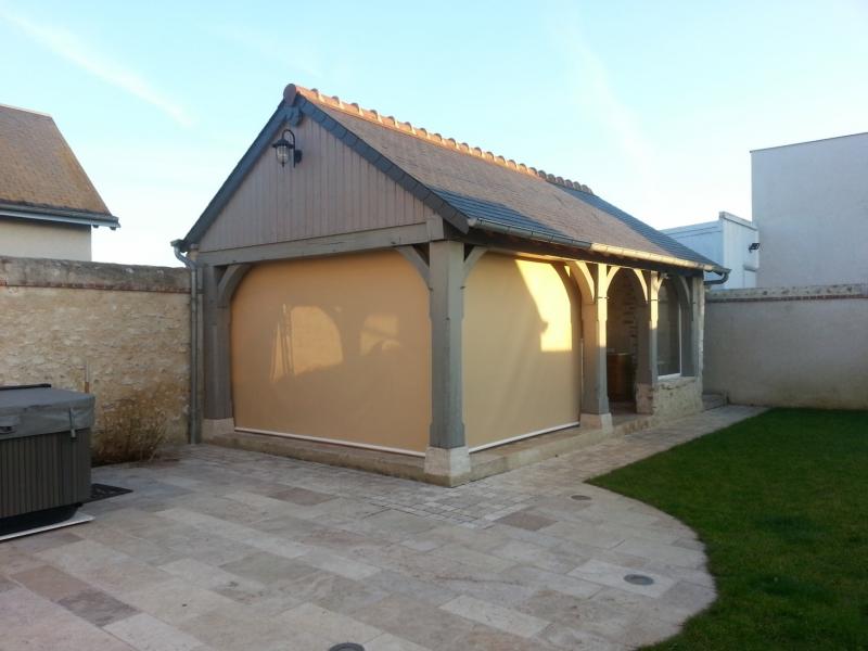 bche en toile pvc pour un abri de terrasse