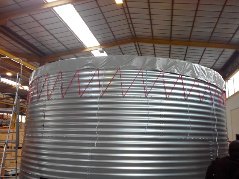 Liner en toile PVC pour l'alimentation d'eau en Afique
