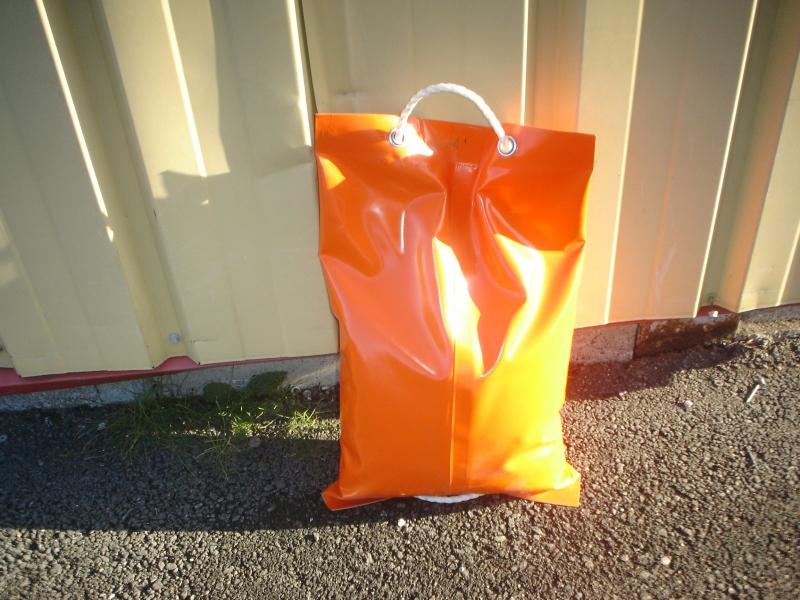Sac de lestage orange en toile PVC