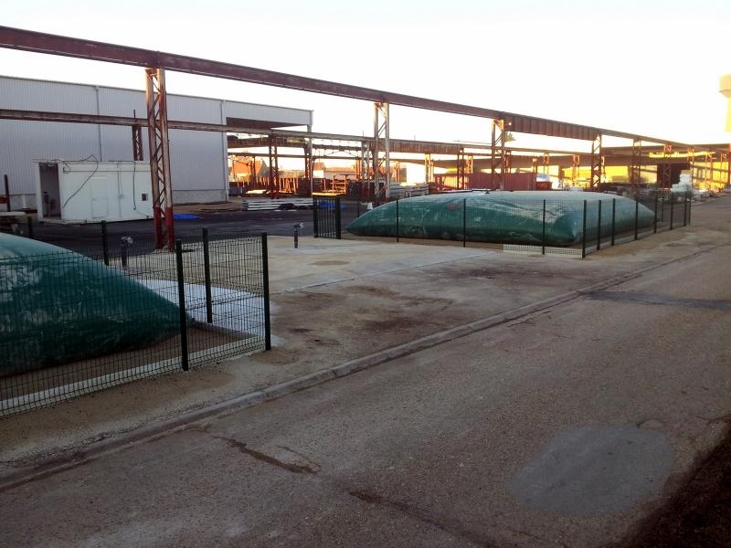 Citerne souple eau pour la défense incendie dans une usine
