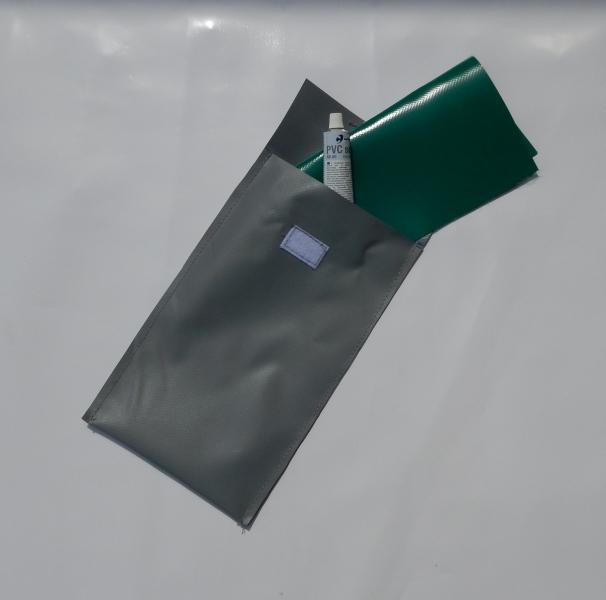 Kit de réparation pour toile PVC : colle + toile PVC