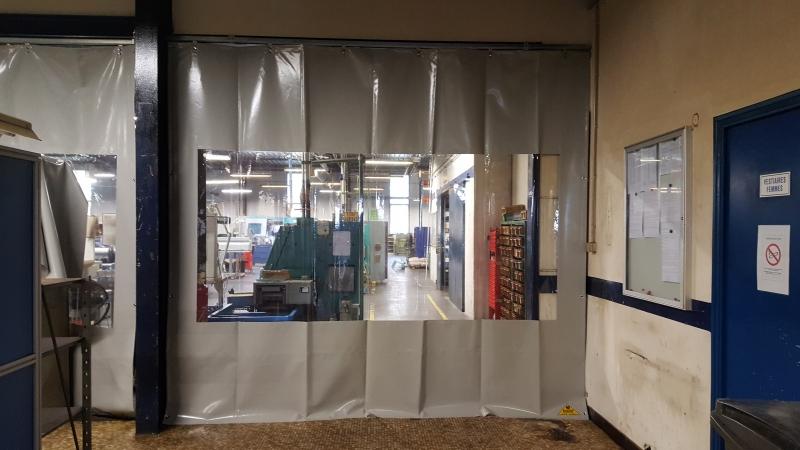 Mur de séparation en toile PVC