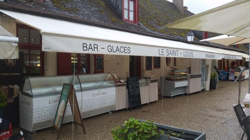 Store de terrasse en toile - Ouvert