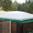 Toile PVC pour le toit d'un abri pour matériel