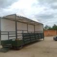 Bâche pour toit et mur de remorque en toile PVC