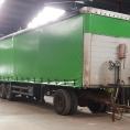 Rideau de camion en bâche PVC uni vert