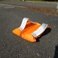 Sac de lestage orange en toile PVC de 10kg