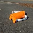 Sac de lestage orange en toile PVC de 10 kg