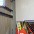 Séparation de bâtiment avec une toile PVC