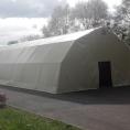 Bâche sur structure métalique / tunnel de stockage