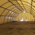 Bâche sur structure métalique / tunnel de stockage - vue intérieur