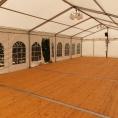 Réentoilage tente, vue intérieure